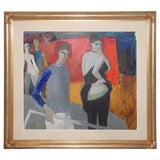 "Image of Italian Bruno Paoli ""Palcoscenico"" Painting For Sale"