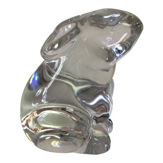 Baccarat Crystal Bunny Made in France For Sale