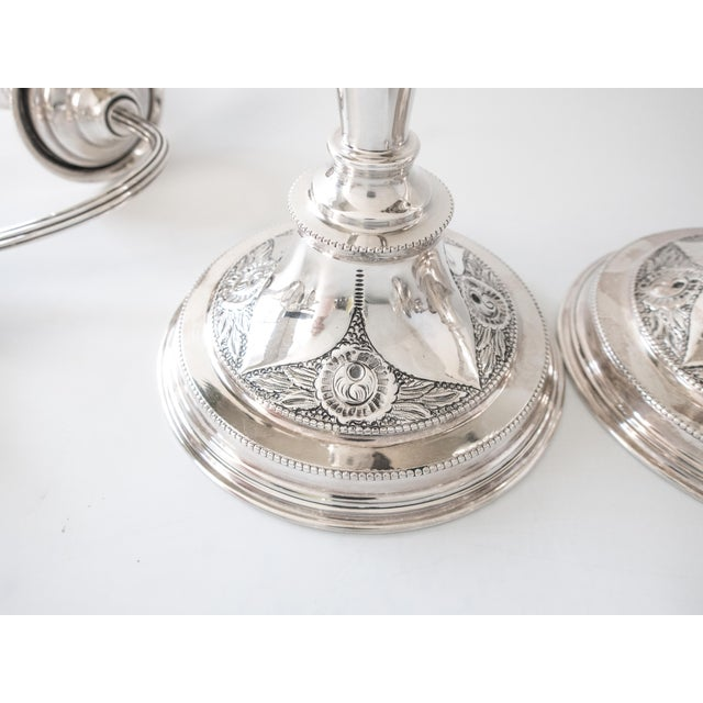 Antique English Silverplate Candelabra - A Pair - Image 4 of 11