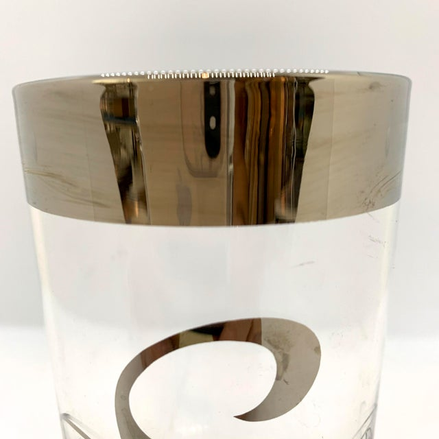 Dorothy Thorpe Mid Century Dorothy Thorpe Monogram S Highball Glasses - Set of 7 For Sale - Image 4 of 5