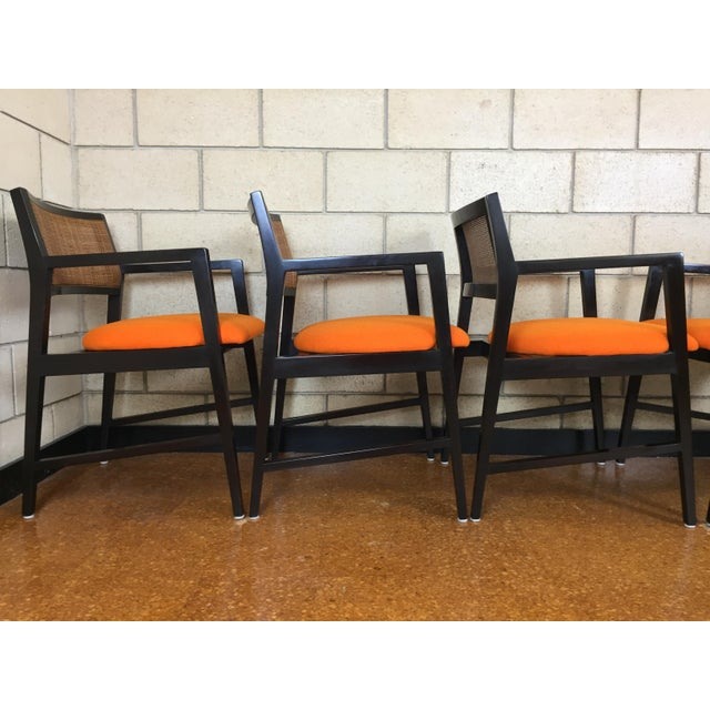 Edward Wormley for Dunbar Dining Arm Chairs - Set of 6 - Image 8 of 11