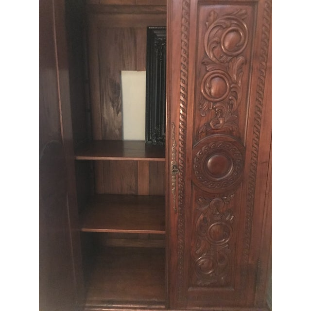 Antique French Country Armoire - Image 7 of 10