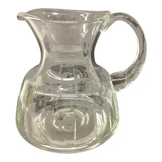 Art Deco Style Crystal Pitcher For Sale