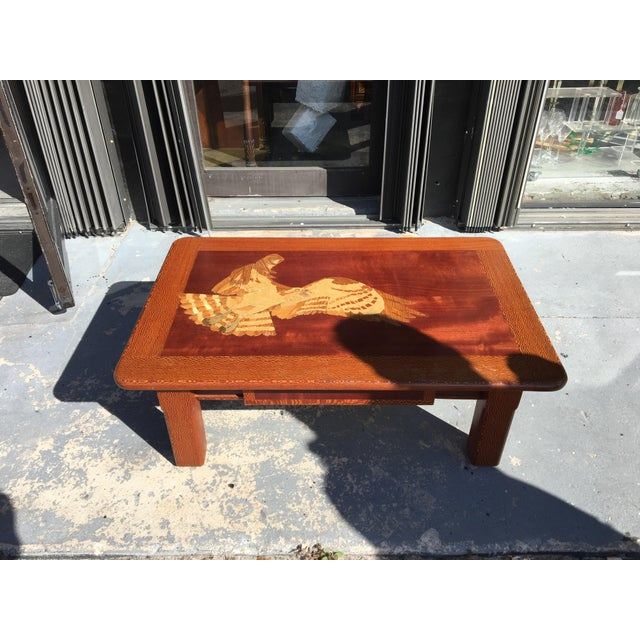 Vintage Industrial Space Age Coffee Table For Sale At Pamono: Hand Carved Wooden Coffee Table