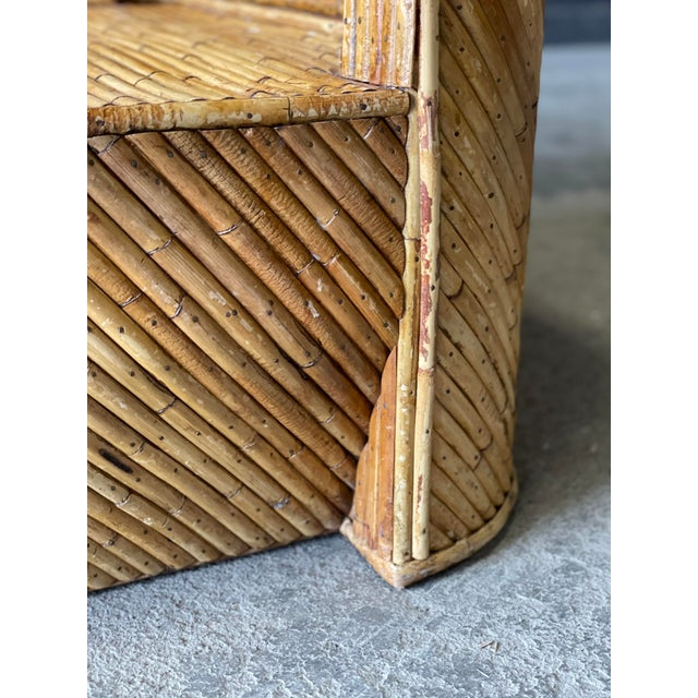 Vintage Bamboo Sofa For Sale In New York - Image 6 of 10