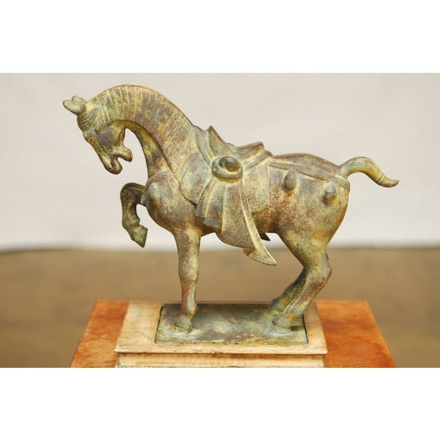 Chinese Tang Style Cast Iron Horse Sculpture - Image 4 of 7