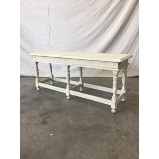 19th C. English Painted Cottage Bench Shabby Chic Preview