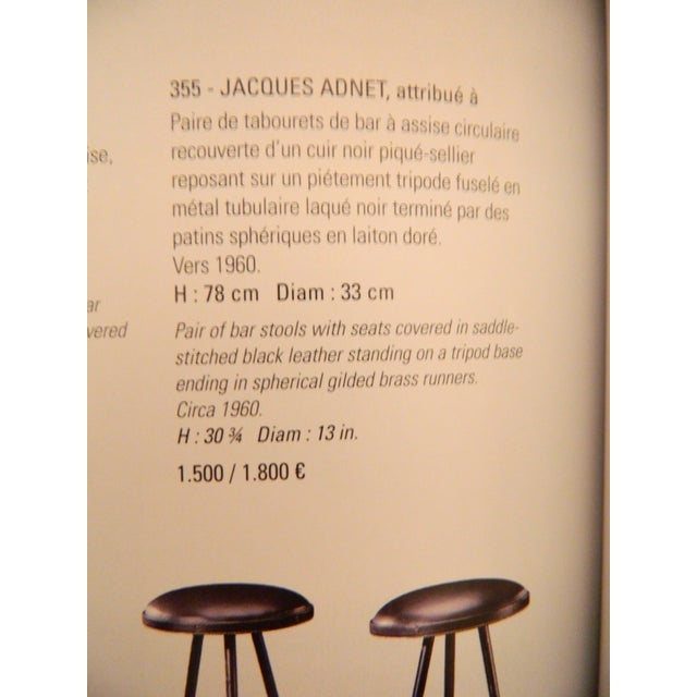 Vintage French Jacques Adnet Bar and 2 Stools - Image 2 of 10