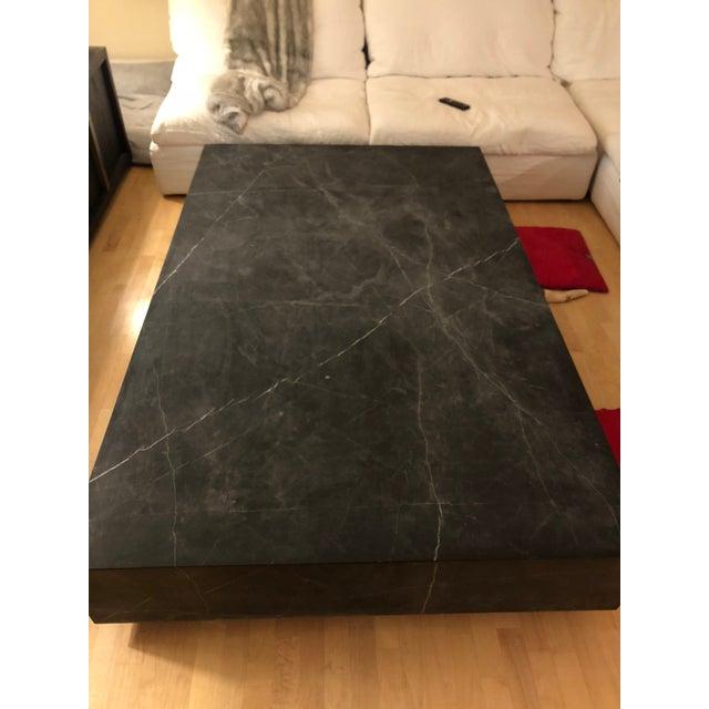 Restoration Hardware Marble Plinth Coffee Table Chairish - Restoration hardware marble coffee table