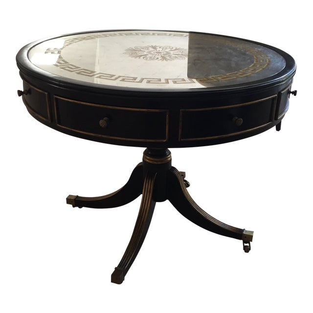 Late 20th Century John-Richard Vintage Drum Entry Table For Sale