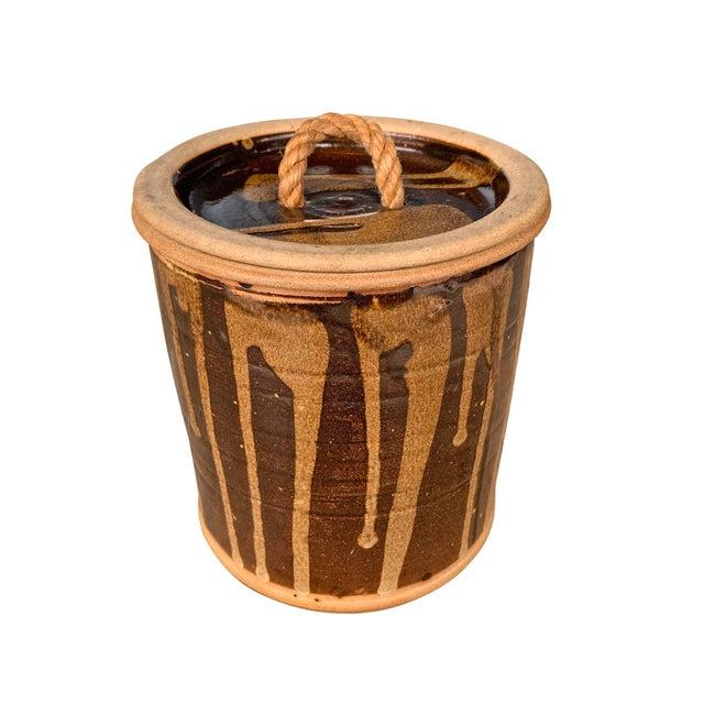 Vintage Studio Pottery Lidded Jar For Sale - Image 4 of 13
