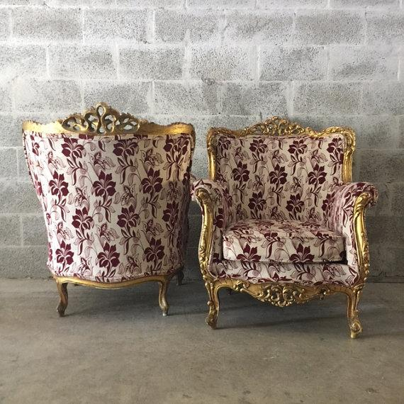 Baroque Bergère-Style Chairs - A Pair For Sale - Image 5 of 5