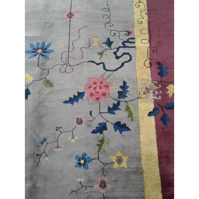 Early 20th Century Antique Chinese Rug - 12′ × 17′ For Sale - Image 4 of 7