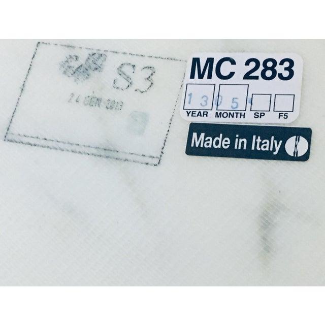 "White Mid Century Modern Eero Saarinen Knoll 48"" Tulip Marble Dining Table For Sale - Image 8 of 10"