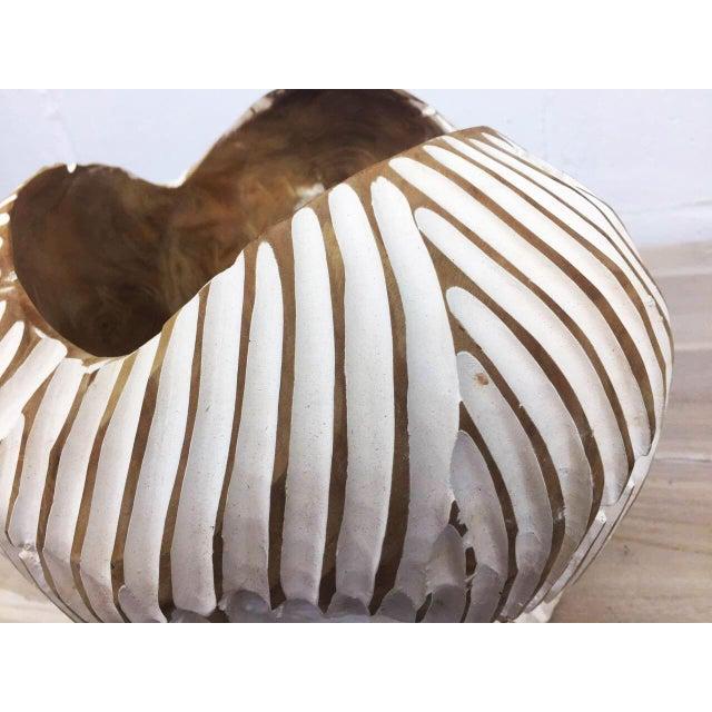 Handmade Teak Wood Bowl For Sale - Image 9 of 11