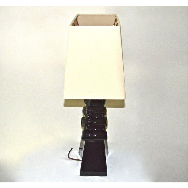 Mid-Century Black and Gold Lamp For Sale - Image 5 of 11
