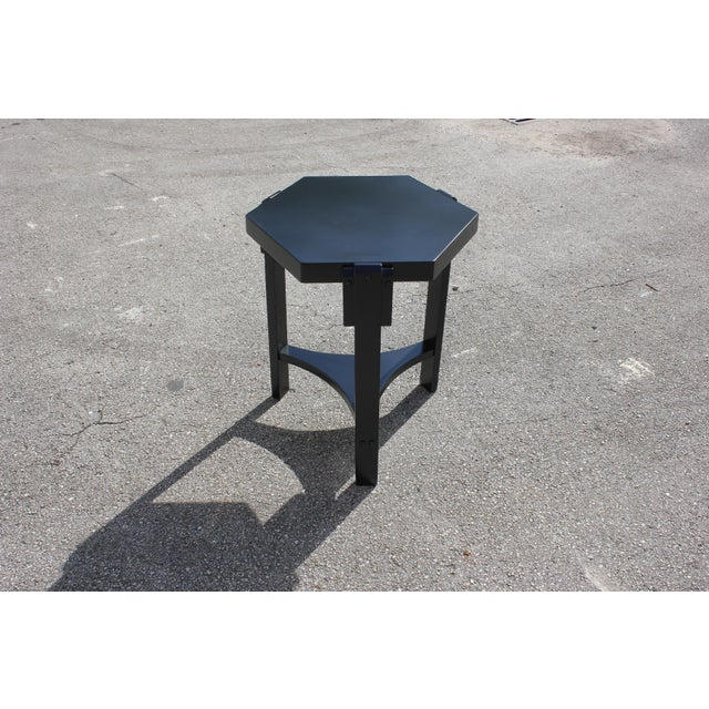 1940s French Art Deco Black Ebonized Coffee Table For Sale - Image 9 of 13