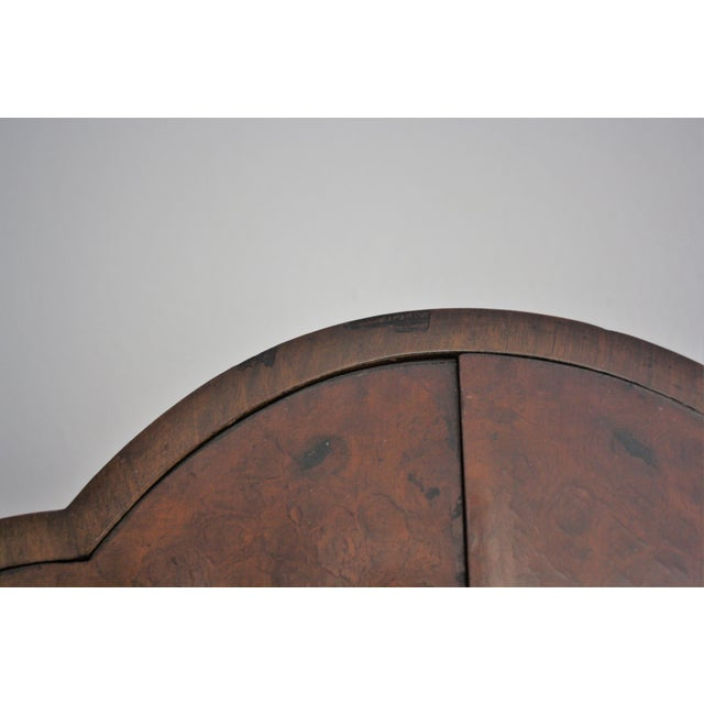 Art Deco Burl Wood Bar Cabinet - Image 8 of 8