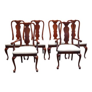 Vintage American of Martinsville Queen Anne Style Dining Chairs - Set of 6 For Sale