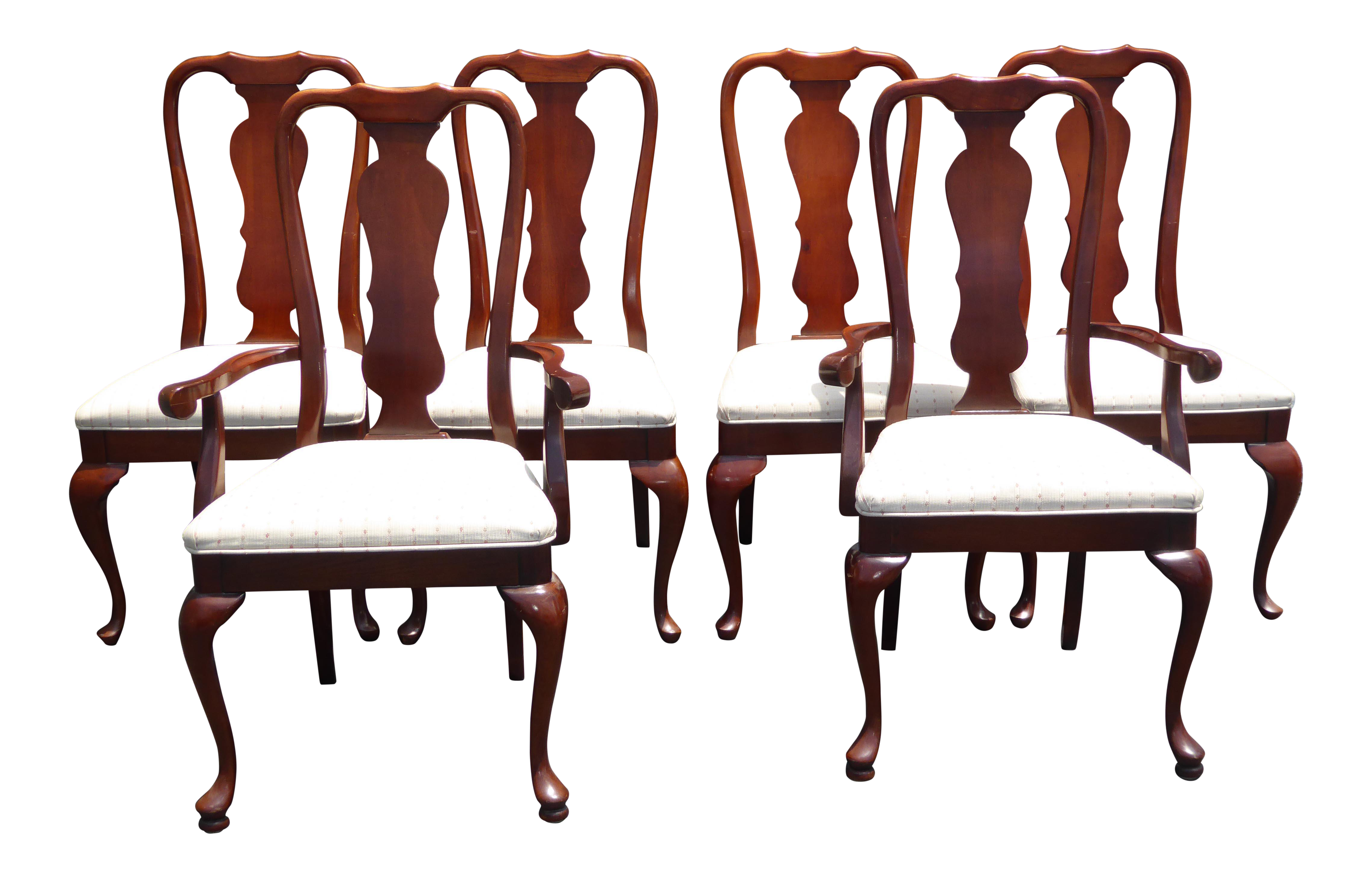 Vintage American Of Martinsville Queen Anne Style Dining Chairs   Set Of 6    Image 1