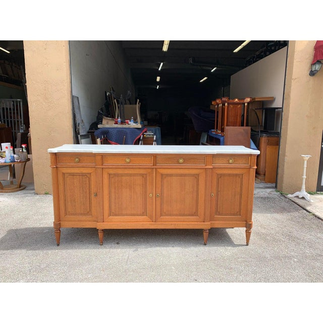1910s French Louis XVI Antique Mahogany Sideboard or Buffet For Sale - Image 11 of 13