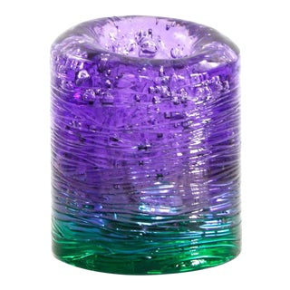 Jungle Contemporary Vase, Small Bicolor Violet and Green resin by Jacopo Foggini For Sale
