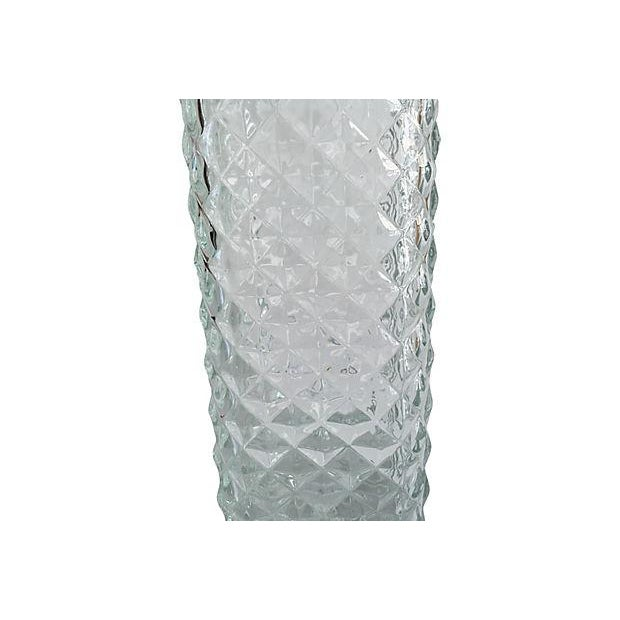 Vintage Mad Men Style Quilted Diamond Cut Decanter - Image 2 of 5