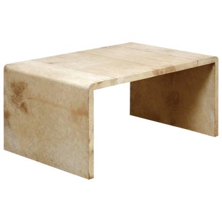 Jean Michel Frank Style Goatskin Waterfall Coffee Table