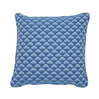 Contemporary Schumacher Wilhelm Pillow in BlueContemporary For Sale