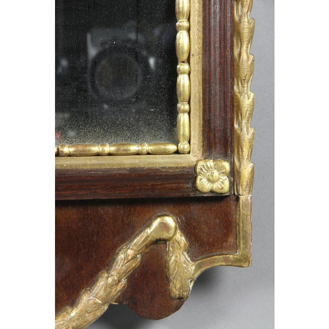Danish Neoclassical Mahogany and Parcel Gilt Mirror For Sale In Boston - Image 6 of 7