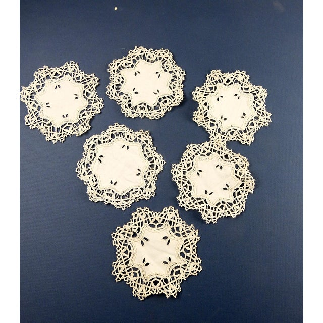 Vintage Lace Table Mat Set - Set of 17 For Sale In San Antonio - Image 6 of 7
