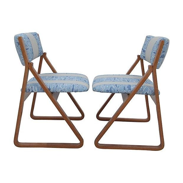 Waterwave Mid-century Dining Chairs - Set of 4 - Image 5 of 6