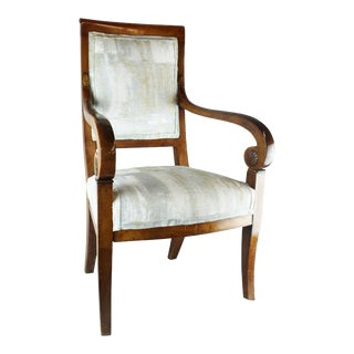 Scrolled Italian Side Chair For Sale
