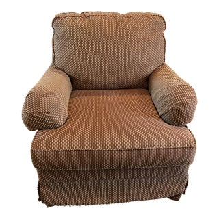 Bassett Upholstered Swivel Chair For Sale