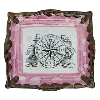 Antique English Nautical Lustre Plaque