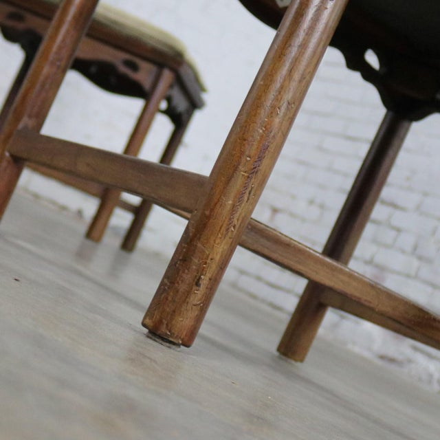 Four Drexel Heritage Chinoiserie Ming Style Spindle Back Dining Chairs For Sale - Image 12 of 13
