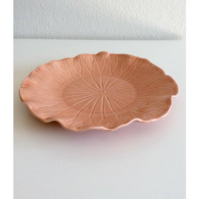 Pink Hued Metlox Lotus Dinner Plates - Set of 4 For Sale - Image 5 of 6
