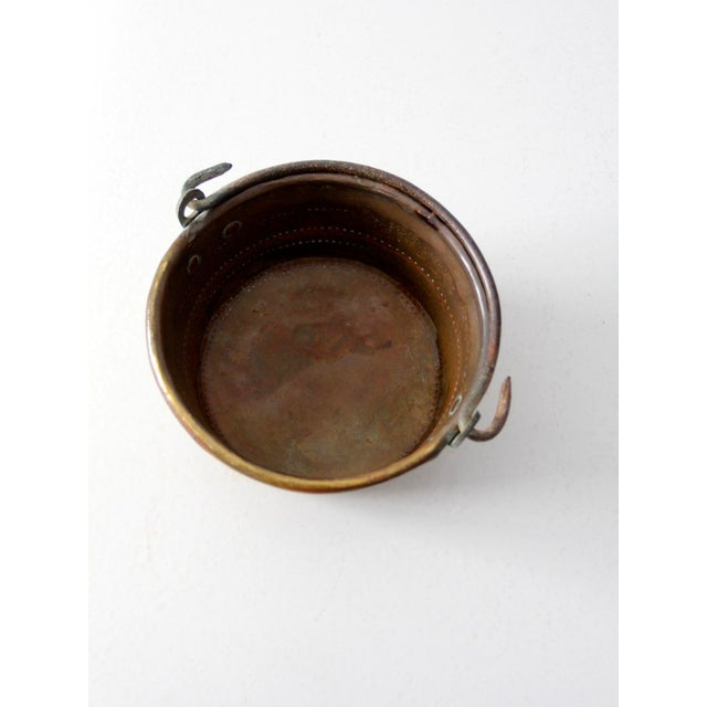 Antique Brass Plated Copper Pot - Image 8 of 8