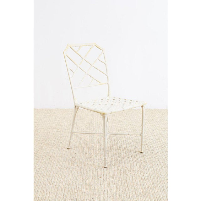 Brown Jordan Calcutta Faux Bamboo Garden Chairs For Sale In San Francisco - Image 6 of 13