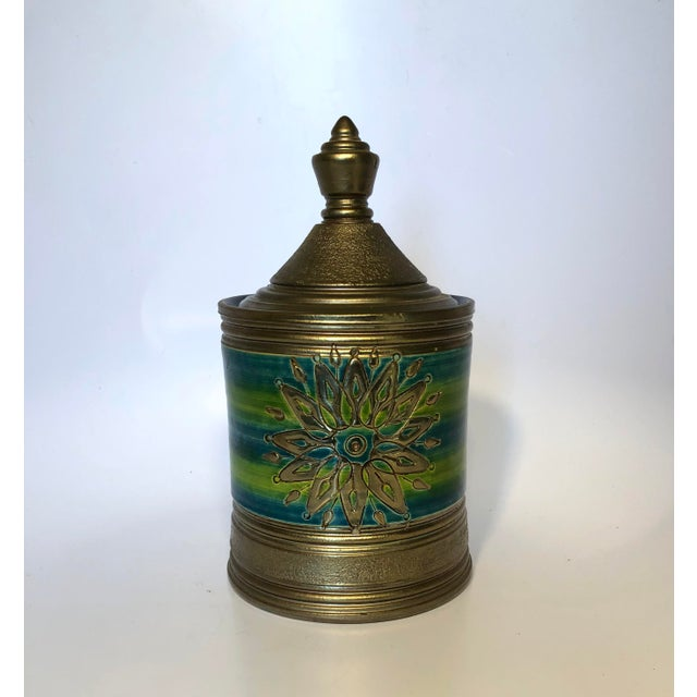 Rosenthal Netter Bitossi Blue and Green Jar For Sale - Image 10 of 10