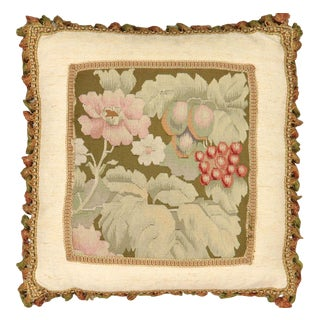 """19th Century French Aubusson Pillow - 18"""" X 20"""" For Sale"""