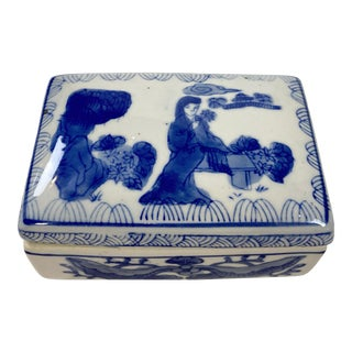Chinese Ceramic Trinket Box For Sale