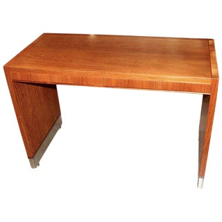 Robert Newton Wood and Aluminum Desk for Alvarado Interiors For Sale