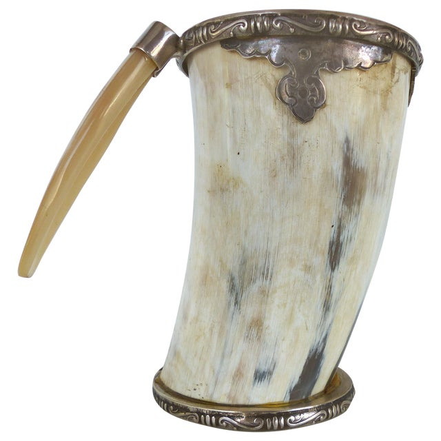 Prata Horn Hunt Cup with Silver Trim - Image 1 of 10