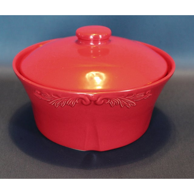 Red Covered Casserole Dish - Image 2 of 5