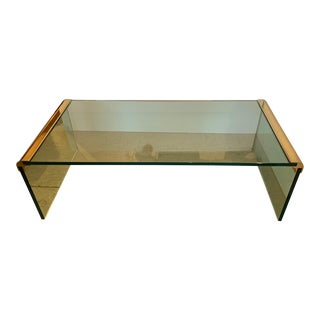 Leon Rosen for Pace Sleek Waterfall Coffee or Cocktail Table For Sale