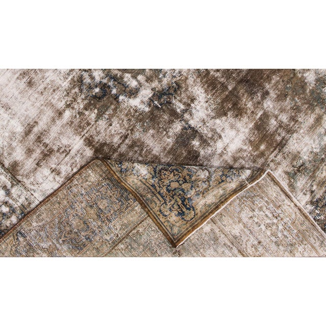 "Apadana - Antique Persian Kerman Rug, 13'3"" X 10'0"" For Sale - Image 4 of 5"