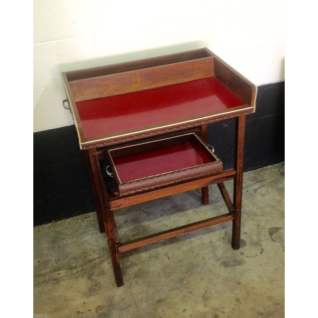 This portable bar is absolutely charming! It has had one owner who received this as her wedding gift in 1954. It is 3...