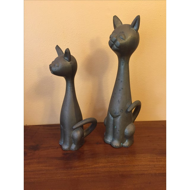 Mid Century Modern Brass Cats - A Pair - Image 10 of 10