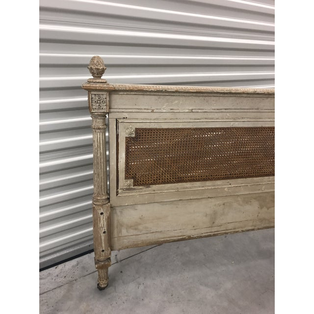 Antique French Cane Twin Headboard and Footboard - 2 Pieces For Sale - Image 9 of 10